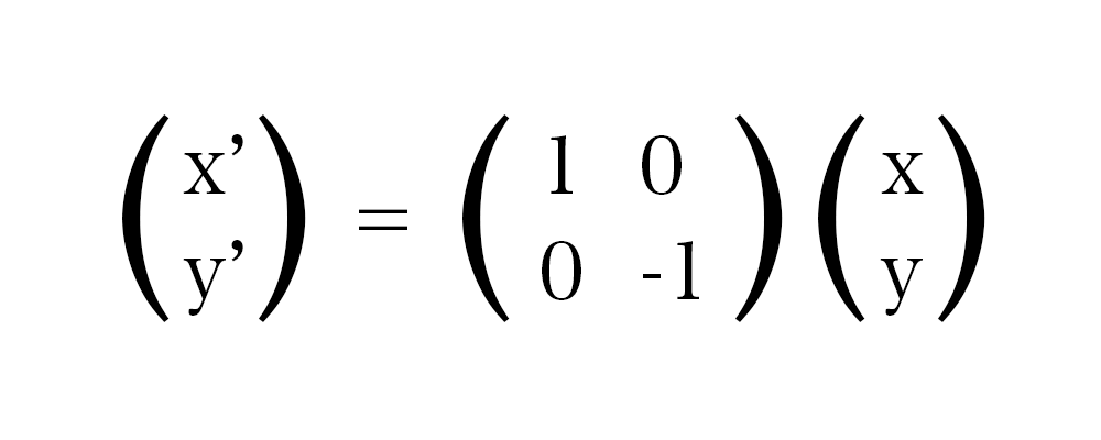 x 軸に対して反転する 計算式