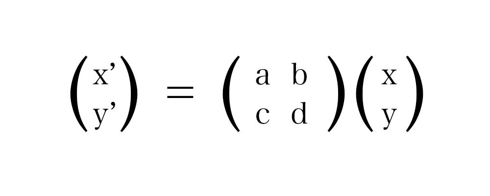 線形変換の基本式