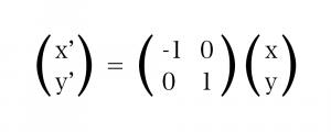 y 軸に対して反転する 計算式