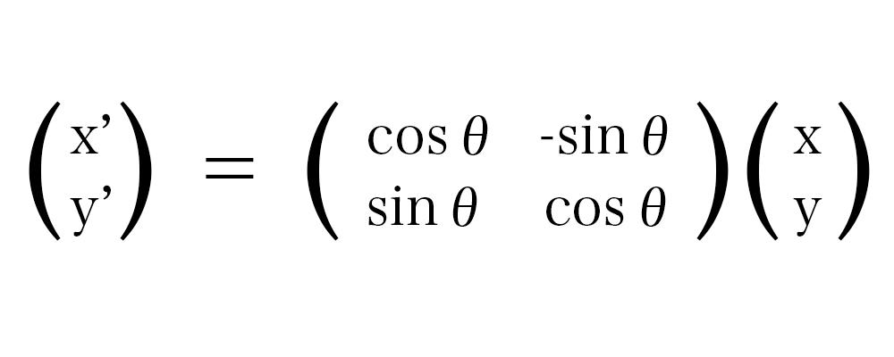 線形変換(回転)