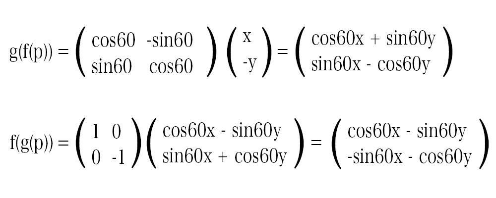 変換f、gの計算結果 2回目の変換