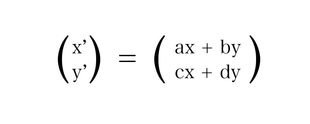 線形変換(計算後)